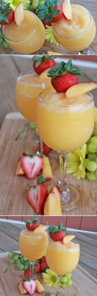 "Peach Moscato Wine Slushies by ""Divas Can Cook"" 