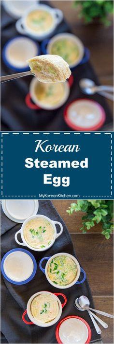 The Ultimate Korean Steamed Egg Recipe. Learn how to make Korean steamed egg (gyeran jjim) in three different ways! | MyKoreanKitchen.com