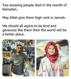 May Allah grant them highest ranks in jannah aameen Islamic Messages, Islamic Love Quotes, Muslim Quotes, Islamic Inspirational Quotes, Religious Quotes, Muslim Images, I Muslim, History Of Islam, Kind And Generous