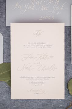 Pale Pink and Gray Wedding Invitations | photography by http://www.charlie-juliet.com