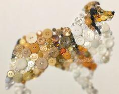 Sheltie Gifts Shetland Sheepdog Decorations Sheltie Wall Art Gifts for Sheltie lovers Button Art Dog