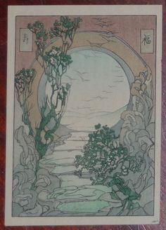 Woodblock prints (Estampes) :: Moon Gate