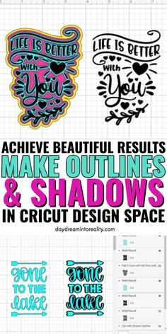 Make Outlines and Shadows in Cricut Design Space