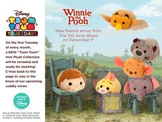 Disney will be releasing more Winnie the Pooh Tsum Tsum characters next month!