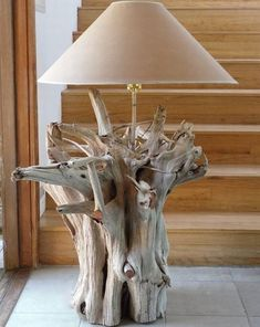 driftwood lamp base