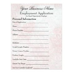 Pin By Diy Home Decor On Job Application Forms