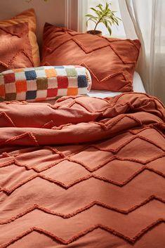 Orange Duvet Covers, Modern Duvet Covers, Orange Bedding, Pillow Shams, Pillow Cases, Pillows, Duvet Covers Urban Outfitters, Boho Duvet Cover, Rust Color