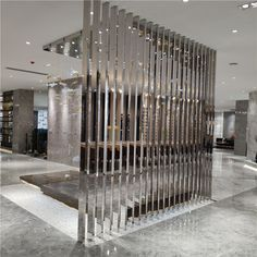 Easy Home Decor, Partition Design, Lobby Design, Front Wall Design, Mirror Wall Decor, Interior Design Hallway, Ceiling Design, Interior Work, Bamboo Room Divider