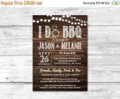 I Do BBQ Couples Shower Invitation Wedding by ThePaperTrailCo