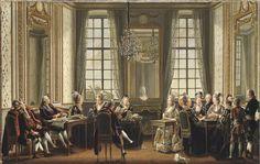 Lektyr på Drottningholms slott, 1779, olja på duk, 74,5 x 117 cm