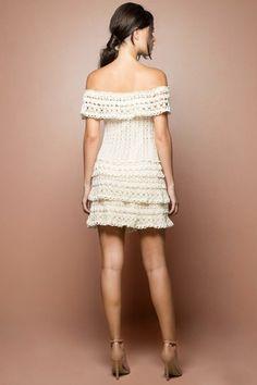 Off Martini Crochet Dress - Vanessa Montoro USA - vanessamontorolojausa