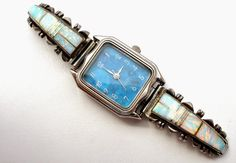 The Jewelry Lady's Store: Navajo Charlie Bowie Watch Sterling Silver Tips Wi...