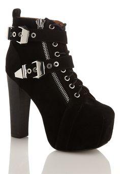 Jeffrey Campbell Boots | Jeffrey Campbell Lita Buckle Shoes - Bubbleroom