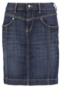 TOM TAILOR CASUAL SKIRT - Spódnica jeansowa - rinsed blue denim - Zalando.pl