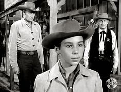 """Western TV series """"The Rifleman"""" with Chuck Conners, Johnny Crawford, and Paul Fix"""