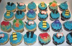 scuba cupcakes