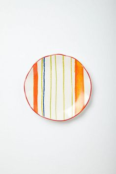 I want them all...Ponza Stripes Canape Plate #anthropologie