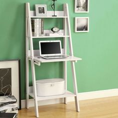 recycled ladder bookshelf
