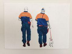 """brigade canine"", 254x178mm, crayon sur papier"