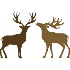 Silhouette Design Store - View Design #101611: two reindeer