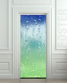 """Door STICKER drops rain window dew mural decole film self-adhesive poster 30x79""""(77x200 cm) /"""