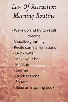 How to have an abundant day || Law of attraction morning routine
