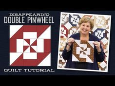 Disappearing Double Pinwheel Quilt Pattern by Missouri Star - Missouri Star Quilt Co. - Missouri Star Quilt Co. - Finished Size: x for Squares. From Missouri Star Quilt Company Jenny Doan Tutorials, Msqc Tutorials, Quilting Tutorials, Quilting Designs, Machine Quilting Patterns, Quilt Patterns, Quilting Fabric, Layer Cake Quilts, Layer Cakes