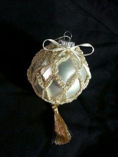 Fancy tassel crochet ornament