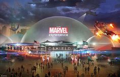 Is The Marvel Experience Traveling Theme Park Coming to Your Town?: The Marvel Experience will be housed in multiple domes.