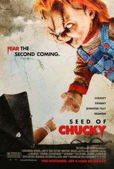Everyones favorite plastic slasher doll, chucky voiced by brad dourif, returns. Photo of jennifer tilly from seed chucky 2004 with redman. Seed of chucky movie rating ages. Chucky Movies, Bride Of Chucky, Horror Movie Posters, Original Movie Posters, Horror Movies, Gothic Movies, Child's Play Movie, I Movie, Sons