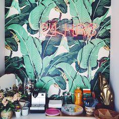 palm tree wallpaper neon sign bar ✔️✔️✔️