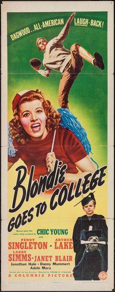 Blondie Goes to College (1942)Stars: Penny Singleton, Arthur Lake, Larry Simms, Daisy, Janet Blair, Jonathan Hale, Lloyd Bridges ~ Director: Frank R. Strayer