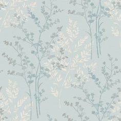 Arthouse Fern Motif Wallpaper in Teal, White and Grey - 250405