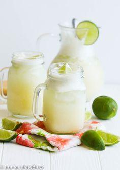Brazilian Lemonade – Not your average lemonade. This Brazilian lemonade is creamy, tangy and refreshing, Lime Drinks, Refreshing Drinks, Summer Drinks, Cocktail Drinks, Cocktails, Brazilian Lemonade, Best Lemonade, Non Alcoholic Drinks, Beverages