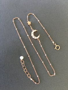 Sideways Vermeil Crescent moon Bracelet, Rose gold Moon and Star bracelet, Layered Bracelet, daint Jewelry, moon and star Bracelet Cute Jewelry, Jewelry Accessories, Jewelry Design, Jewlery, Jewellery Box, Promise Necklace, Piercings, Rose Gold Jewelry, Sterling Silver Bracelets