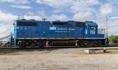 https://flic.kr/p/tMDRcS | GATX #2168 | Locomotive ready to roll in a railyard in Oklahoma City.