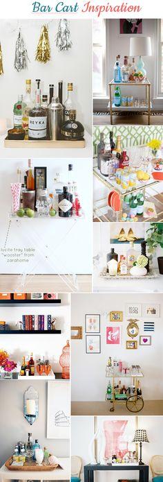 At Home :: Bar Cart Inspiration