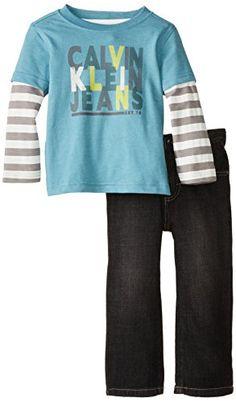 Calvin Klein Little Boys' Twofer Tee with Jeans, Blue, 2T Calvin Klein http://www.amazon.com/dp/B00JN588LQ/ref=cm_sw_r_pi_dp_eCzjub1AS6F2Y