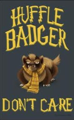 HUFFLE BADGER DONT CARE