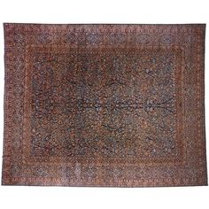 Antique Persian Mohtesham Kashan Carpet | From a unique collection of antique and modern persian rugs at https://www.1stdibs.com/furniture/rugs-carpets/persian-rugs/