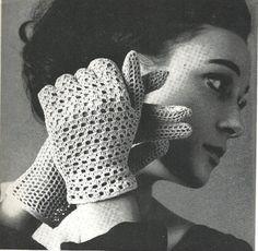 1969 Crochet Lace Glove Pattern vintage by CrochetPatternRewind, $2.50