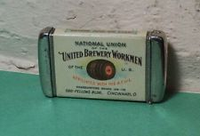 United Brewery Workmen Union Celluloid Advertising Match Safe Match Holder-NICE