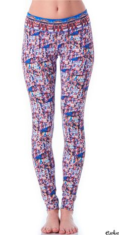 With these beautifully printed leggings, designed with photographs from Nepal, you'll stand out in any yoga class! Shop KiraGrace now at www.evolvefitwear.com.