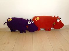 Hippopotamus soft toy for kids plush toy stuffed by Pillowio
