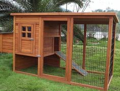 It's a chicken coop but if we built it bigger if could work for the dogs