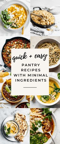 Pantry recipes using staple ingredients you already have in your cupboard! These easy recipes made with minimal ingredients taste gourmet but come together in a pinch! Egg Recipes For Breakfast, Dinner Recipes, Vegetarian Recipes, Healthy Recipes, Easy Recipes, Budget Recipes, Vegetarian Cooking, Easy Baked Ziti, Broma Bakery