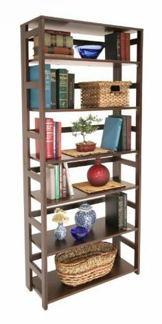 Regency Seating Mocha Walnut 67-Inch High Folding Bookcase by Regency Seating. $206.90. Hand rubbed finish. Clean looking design. Folding set-up and take down. Flip flop folding bookcases offer you the ability to have a sturdy bookcase that can handle all of your storage needs while set up - yet fold down to store away conveniently. This bookcase can fold down or be set up without the use of tools.
