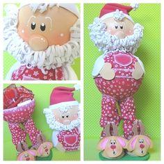 Hola amigas de Goma-Eva.com, hoy les proponemos realizar una hermosa y original manualidad para navidad, este precioso fofucho Papa Noel porta bombones hec