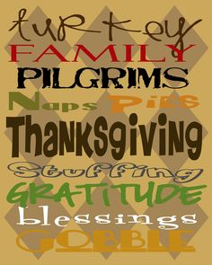 {Junk in their Trunk}: Thanksgiving Printable