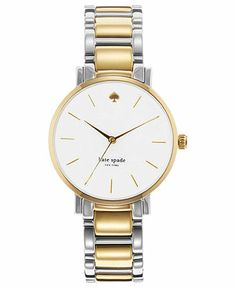 kate spade new york Watch, Women's Gramercy Two-Tone Stainless Steel Bracelet 34mm 1YRU0005 - Kate Spade - Jewelry & Watches - Macy's